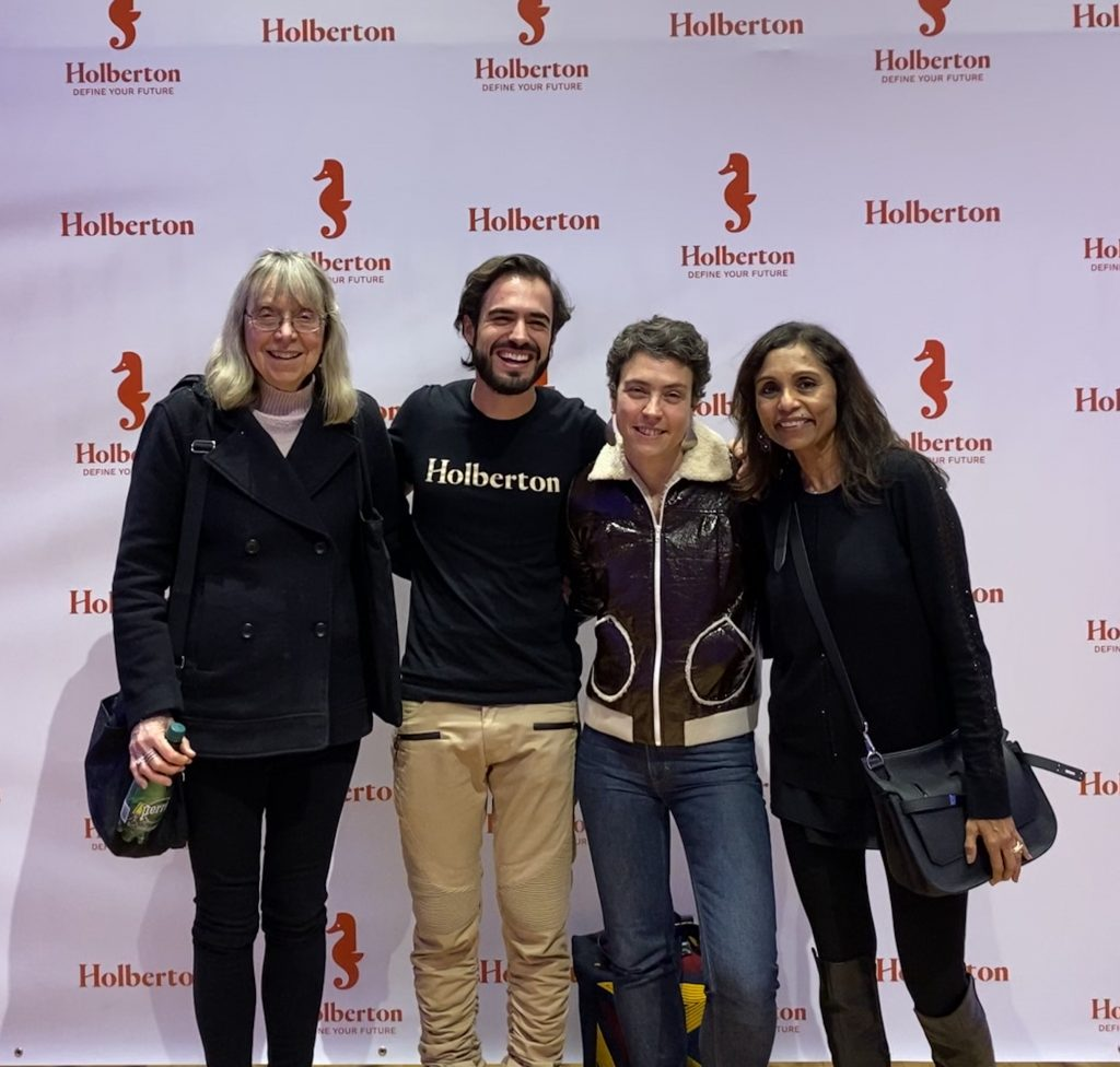 left to right, Esther Wojcicki, Sylvain Kalache, Marie Ekeland, Chitra Rajeshwari